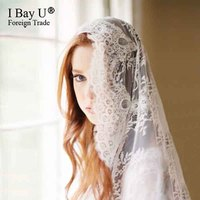 Real Photos 3M France Cathedral Wedding Veils Long Bridal Veil 2020 One Layer Ivory Lace Bride Veils Wedding Accessories