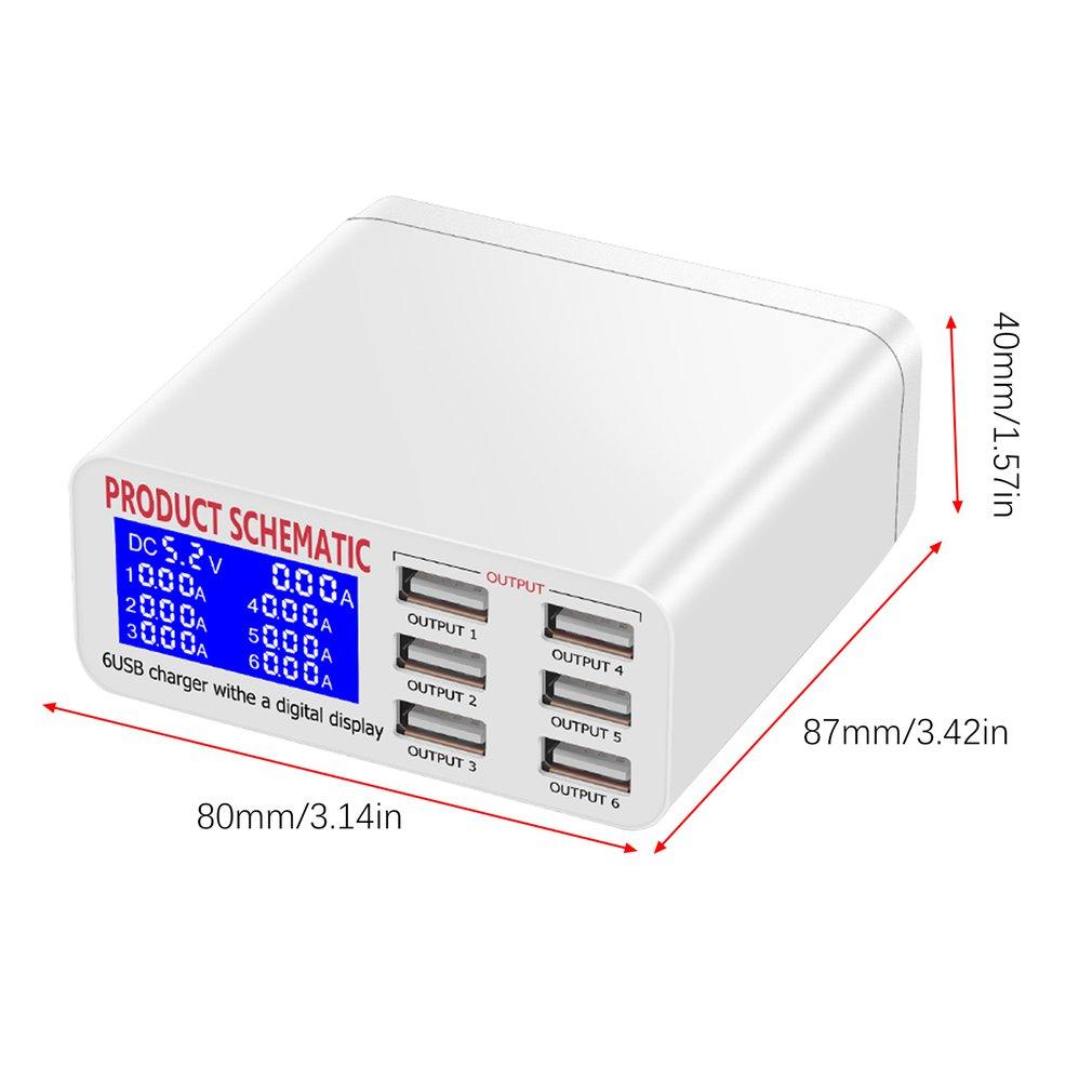 ЖК дисплей мульти быстрый usb Зарядное устройство заряжать несколько