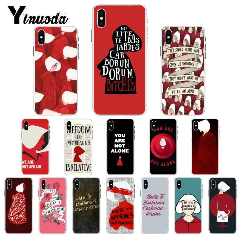 Yinuoda את handmaid של סיפור לקוחות מקרה טלפון באיכות גבוהה עבור iPhone X XS מקסימום 6 6s 7 7 בתוספת 8 8 בתוספת 5 5S SE XR 11 Pro מקסימום