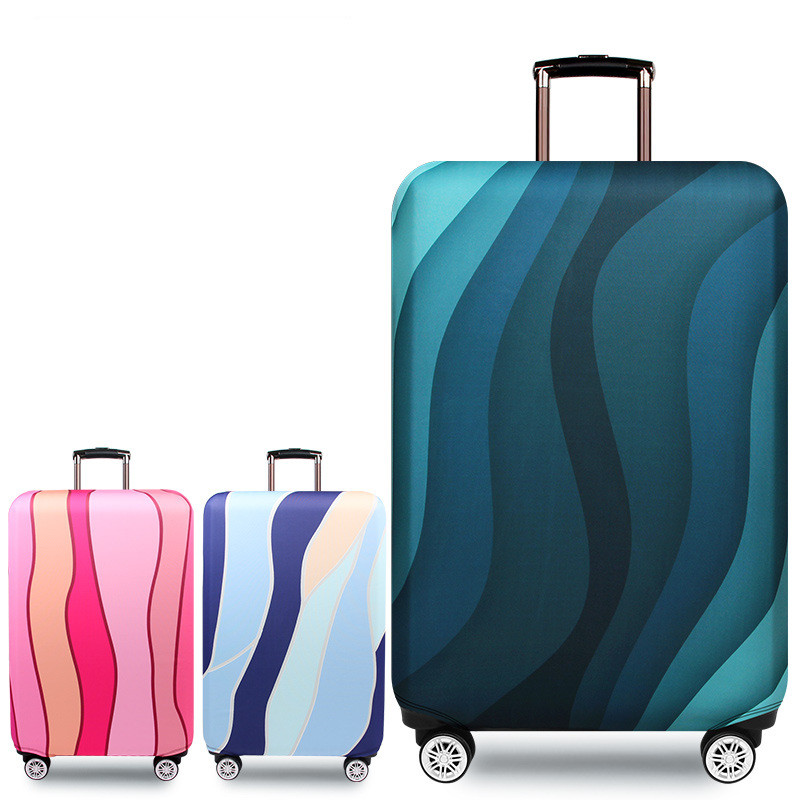 Mihawk Waterproof Luggage Protective Covers Thicken Elastic Suitcase Cover Ripple Baggage Dust-proof Wear Trolley Accessories
