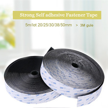 5m/lot 20/25/30/38/50mm Strong Self adhesive Fastener Tape nylon Hooks and Loops sticker velcros adhesive 3M Glue Magic for DIY