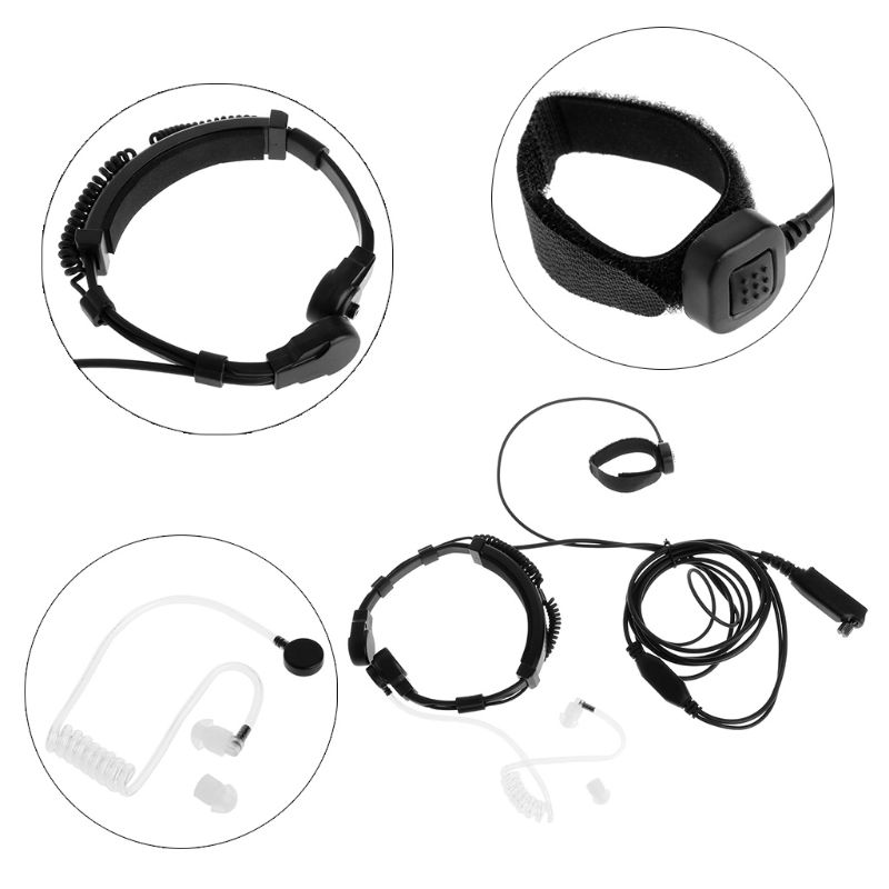 Finger PTT Throat MIC Acoustic Tube Earpiece Headset For SEPURA Radio STP8000/8030/8040/8080