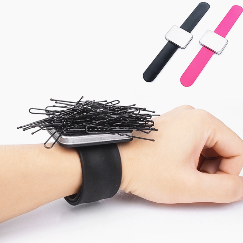 Professional Salon Hair Accessories Magnetic Bracelet Wrist Band Strap Belt Hair Clip Holder Barber Hairdressing Styling Tools