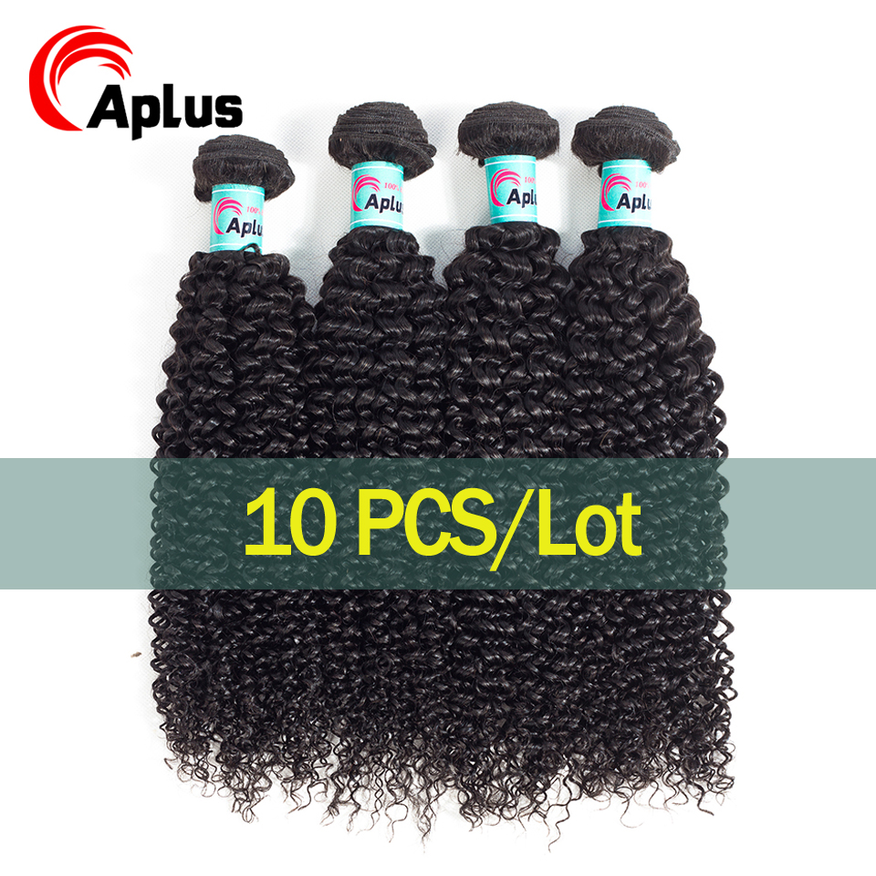 10 шт монгольский курчавый и вьющийся волос оптовая продажа низкое соотношение волос может сделать этикетку пряди Remy человеческие волосы