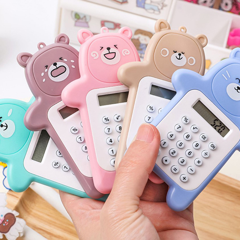 Pastel Pocket Calculator Handy Size 8 Digit Display Battery Operated Office New