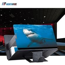 Универсальный мобильный телефон 3D Экран HD видео усилитель увеличительное Стекло Подставка Кронштейн Автомобильный держатель для телефона на магните практичный проектор домашнего кинотеатра