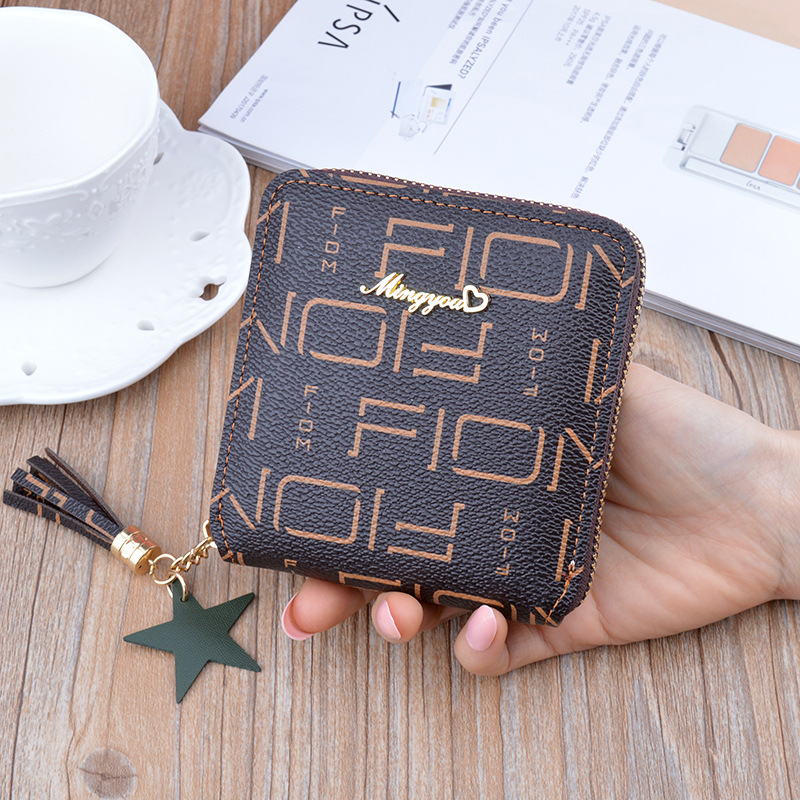Small Fashion Leather Purse Coin Purse Wallet Cards ID Holder Female Purse Clutch Tassel Cartera Mujer