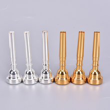 Pro Silver/Gold Plated Bb Trumpet Mouthpiece 3C 5C 7C Size Copper Musical Brass Instruments Trumpet Accessories