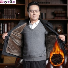 2019 Men New Spring Slim Jackets Middle Aged  50 Years Old Gray Male Clothing Coat Size XXXL Winter Mature Style