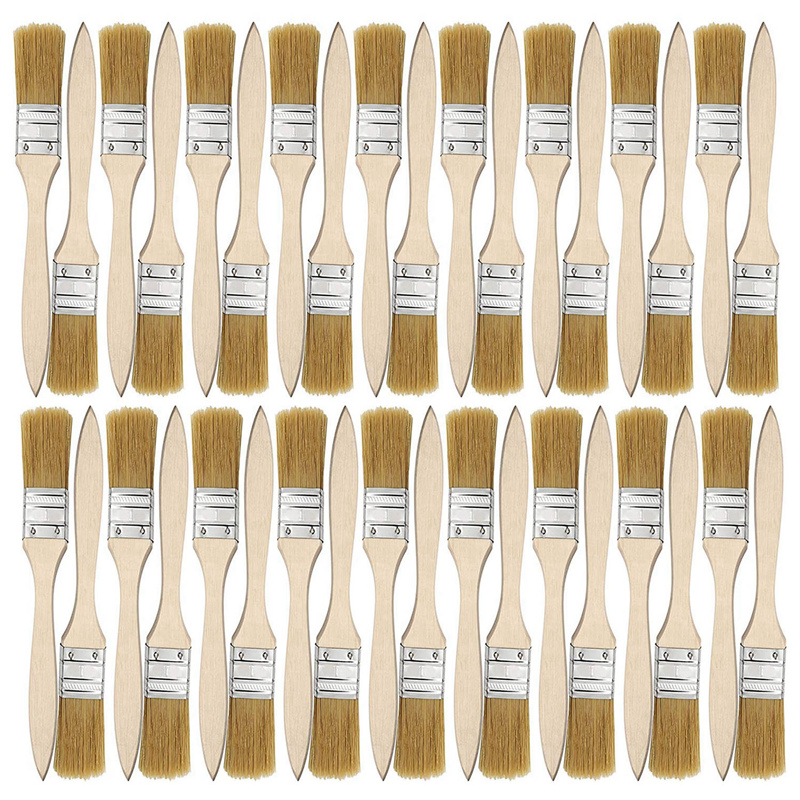 Big deal 36 Pack of 1 Inch  24mm  Paint Brushes and Chip Paint Brushes for Paint Stains Varnishes Glues and Gesso