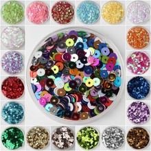 3mm 4mm 5mm 6mm Sequin Flat Round Loose Sequins Crafts Paillette Sewing Clothes Decoration DIY Accessory Lentejuelas Para Coser