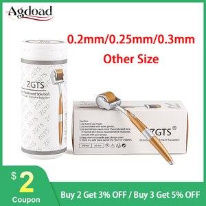 Image 1 - מקצועי ZGTS טיטניום Derma רולר 192 מחטי Microneedling עבור פנים טיפוח עור ושיער אובדן טיפול יופי כלי