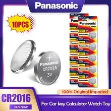 10 шт./лот Panasonic CR2016 3V литиевая батарея CR 2016 DL2016 LM2016 KCR2016 ECR2016 ХВГФ для мобильного часо-игрушечный автомобиль ключ кнопка ячейки