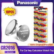 10 pz/lotto Panasonic CR2016 3V batteria al litio CR 2016 DL2016 LM2016 KCR2016 ECR2016 GPCR per orologio giocattolo auto chiave pulsante cella moneta
