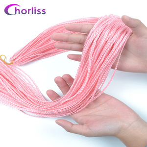 Chorliss Zizi Braids Crochet Box Braids Crochet Hair Bundles Synthetic Hair Extensions Purple Black Pink Brown Zizi Braid Hair(China)