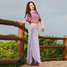 Belly dance performance clothing Oriental Dance beginners training clothes women adult dance suit top and skirt long dress 2017 square dance clothing women skirt suit short sleeved dance dress skirt with top women s clothes twinset