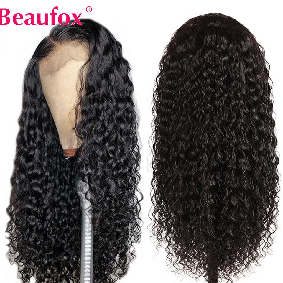 360 Lace Frontal Wigs Brazilian Water Wave Lace Front Human Hair Wigs 150% Pre Plucked Remy Lace Wig Beaufox