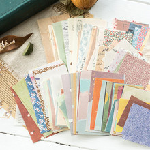 60 Pcs Ins Style Creative Small Fresh Retro Memo Basic Journal Material Paper Collage Scrapbook Stationery Back To School