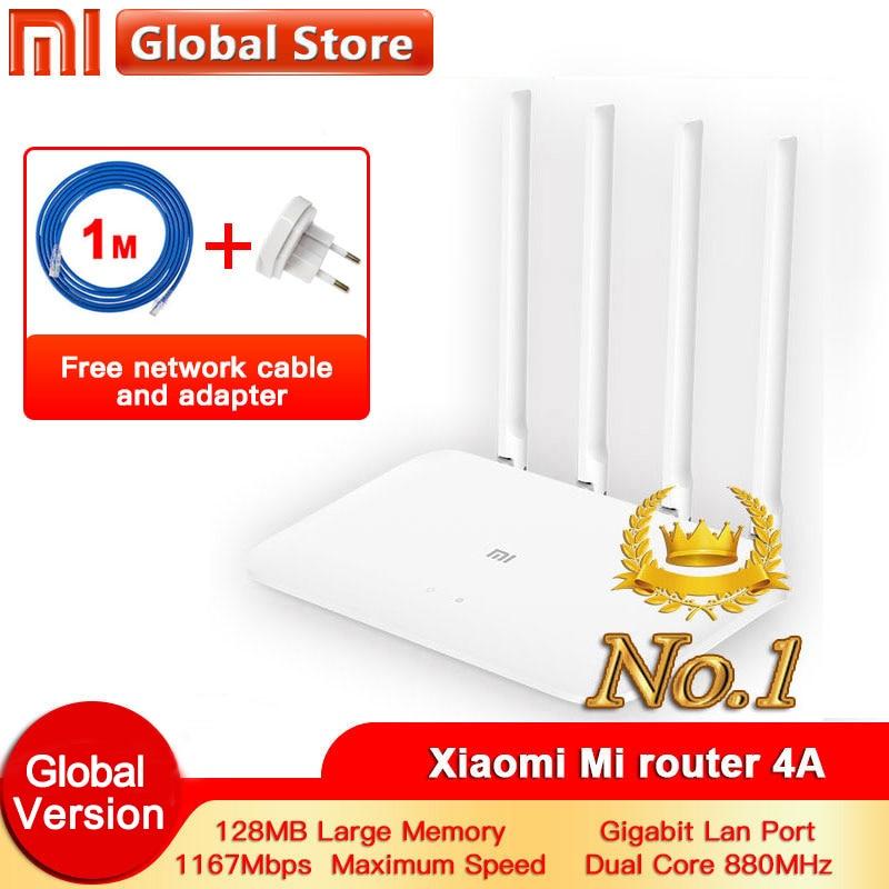 Роутер Xiaomi 4A Gigabit edition 2,4 ГГц + 5 ГГц WiFi DDR3 с высоким коэффициентом усиления 4 антенны управление приложением Mi роутер 4A WiFi повторный роутер Xiaomi|Беспроводные роутеры|   | АлиЭкспресс