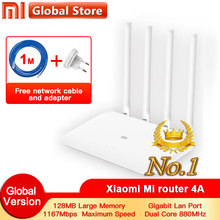 Xiaomi 4A Router Gigabit edition 2,4 GHz + 5GHz WiFi DDR3 High Gain 4 Antenne APP Control Mi router 4A WiFi Wiederholen Xiaomi Router