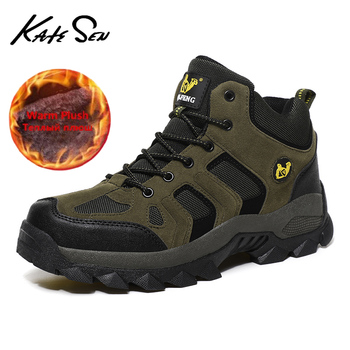 2020 New Men Winter Snow Boots Fashion  Warm Plush Ankle Boots Casual Sport Waterproof Outdoor Boots Work Hiking Shoes Big Size men s boots men ankle boots winter warm plush snow boots men outdoor sneaker work boots male rubber winter shoes size 39 46