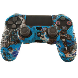 Image 2 - 1PCS Anti slip Silicone Cover Protect Skin Case for Sony Play Station Dualshock 4 PS4 Pro Slim Controller+2Thumb grips accessory
