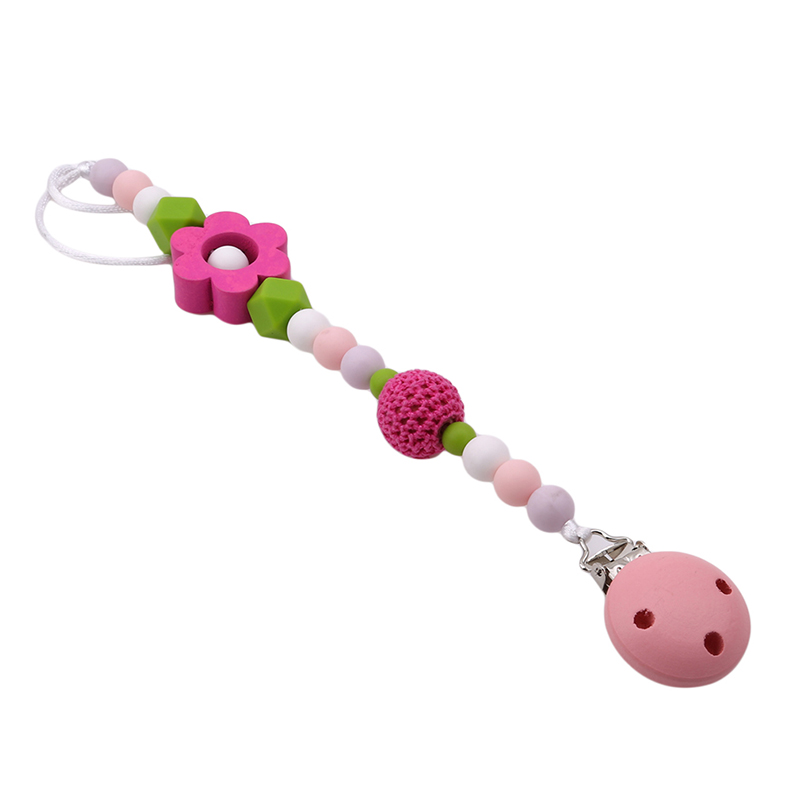 Cute Shape Baby Infant Kids Pacifier Chain Clip Christmas High Quality Baby Gift Dummy Soother Nipple Holder Gift