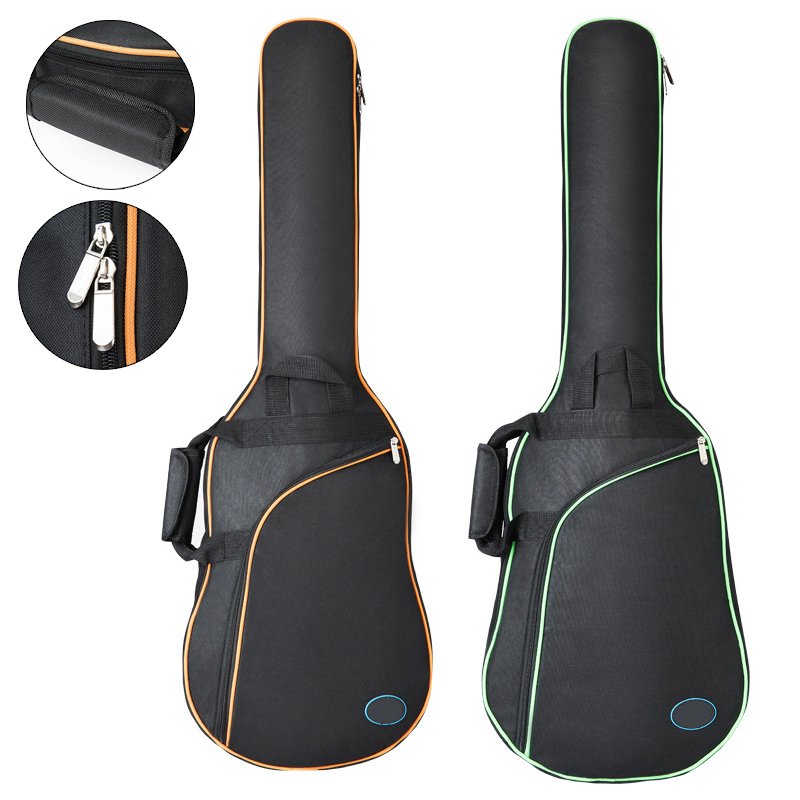 38/39 <font><b>40</b></font>/41Inch Waterproof Oxford Fabric Electric <font><b>Guitar</b></font> <font><b>Case</b></font> Gig Bag Double Straps Pad Cotton Thickening Soft Cover Backpack image
