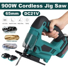 Jig-Saw Batteries Blade Power-Tool Woodworking Adjustable Cordless Metal 900W with 21VF