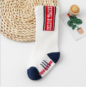 0-3Year 1 Pair Autumn and winter boy girl tube socks new loose mouth three-dimensional infant children's baby cartoon socks - F, 0-1 year