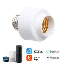 Tuya slampher wi fi inteligente suporte da lâmpada e27 sem fio casa inteligente compatível com amazon alexa google casa