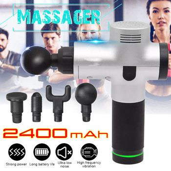2400 MAh Electric Massage G un Muscle Massager Muscle Pain Relief after Training Exercising Body Relaxation Slimming Shaping