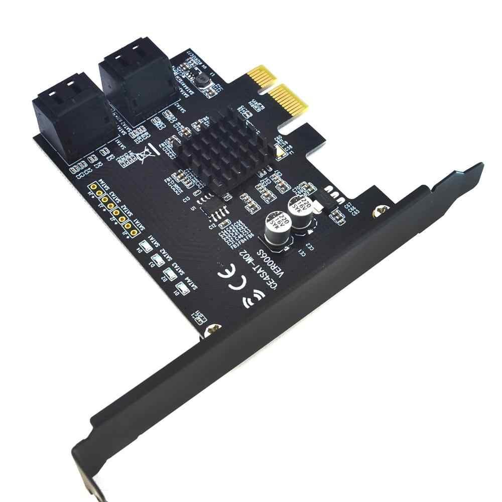 SATA3.0 הרחבת כרטיס כדי PCI-E 4 יציאות 6G riser כרטיס 88SE9215 שבב מורחב IPFS קשה דיסק המרת כרטיס מחשב אבזרים