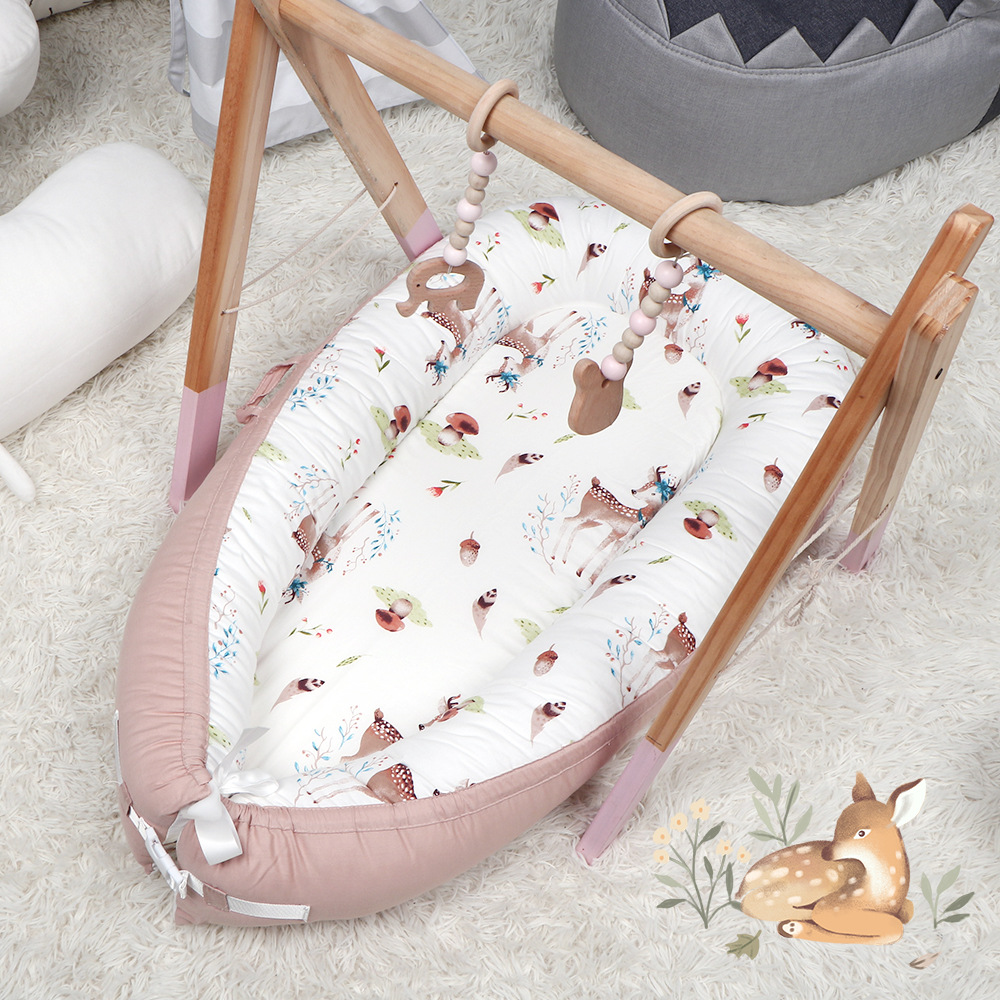 Explosive crib bed, dark and dirt-resistant neonatal uterine bed bionic bed hot sale newborn photography bed we'll be afraid bed