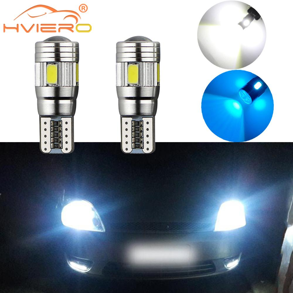 SEAT CAR BULBS LED ERROR FREE CANBUS 13 SMD XENON WHITE W5W 501 SIDE LIGHT BULB