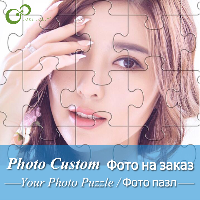 Wooden Decoration Jigsaw-Puzzle Picture Diy-Toys Photo GYH Custom Adults Personalized