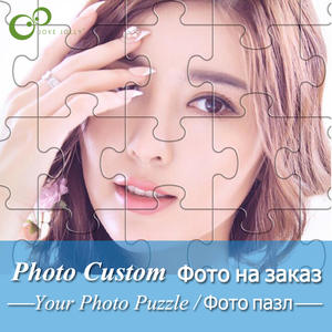 Wooden Decoration Jigsaw-Puzzle Picture Diy-Toys Photo Custom Adults Personalized