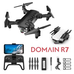 R7 Folding RC Racing Drone RC Helicopter 360 Degree Flip and Rolls Headless Mode RC Aircraft Toy with Two Batteries