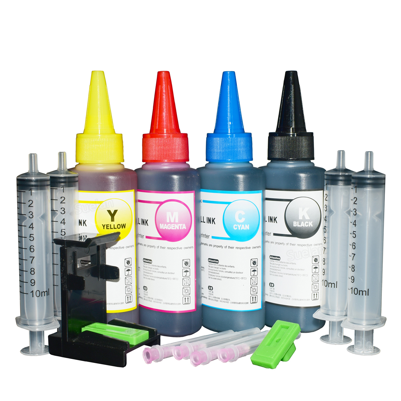 Printer Ink for Hp 123 Ink Cartridge Hp 121 HP122 HP 650 HP 129 HP 21 22 hp 140 for hp deskjet 2130 2620 HP 652 Refill Ink 4x100