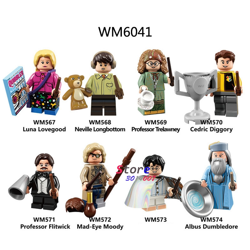 Single Building Blocks Lovegood Longbottom Diggory Trelawney Flitwick Mad-eye Moody Toys For Children Harry