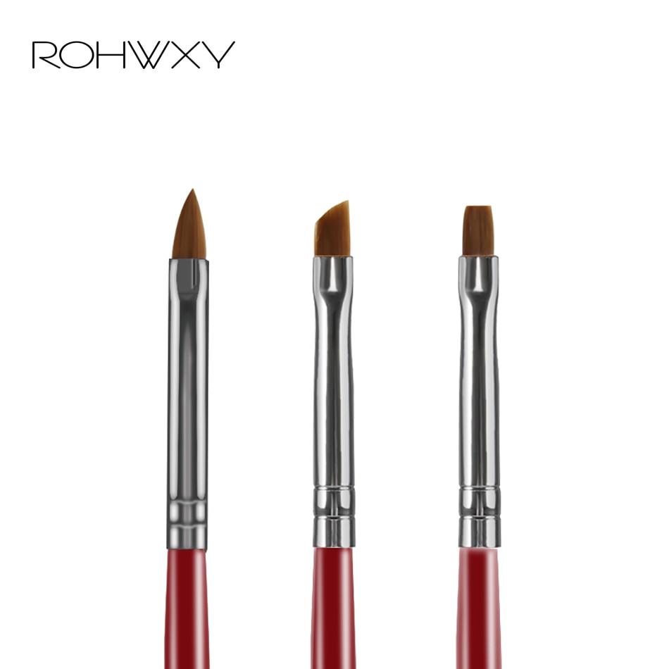 ROHWXY Tip Nail Brush Handle Half Moon Shape Acrylic Painting Drawing Pen Flower Drawing Manicure Nail Art Tool