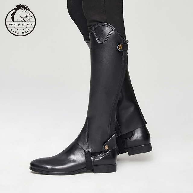 Cavassion Microfiber Bionic Equestrian Leather Riding Boots Half-Chaps For Kids & Adults  4