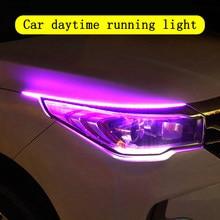 2 pieza del coche Ultra-fina luz CONDUZIDA de conducción suave de tira de LED de luz diurna de tubo Luz de guía de luz agua del coche