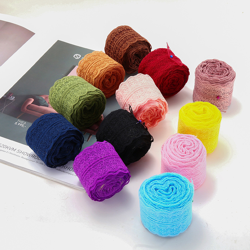 10 Yards Lace Ribbon 38mm Bilateral Handicrafts Holiday Embroidered Net Lace Trim Fabric Ribbon DIY Sewing Skirt Accessories in Ribbons from Home Garden