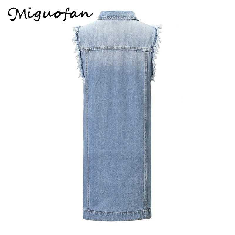 Miguofan Wanita Denim Jaket Mantel Jaket Lengan Panjang Jaket Tombol Tertekan Kantong Denim Wanita Jaket Mantel Baru