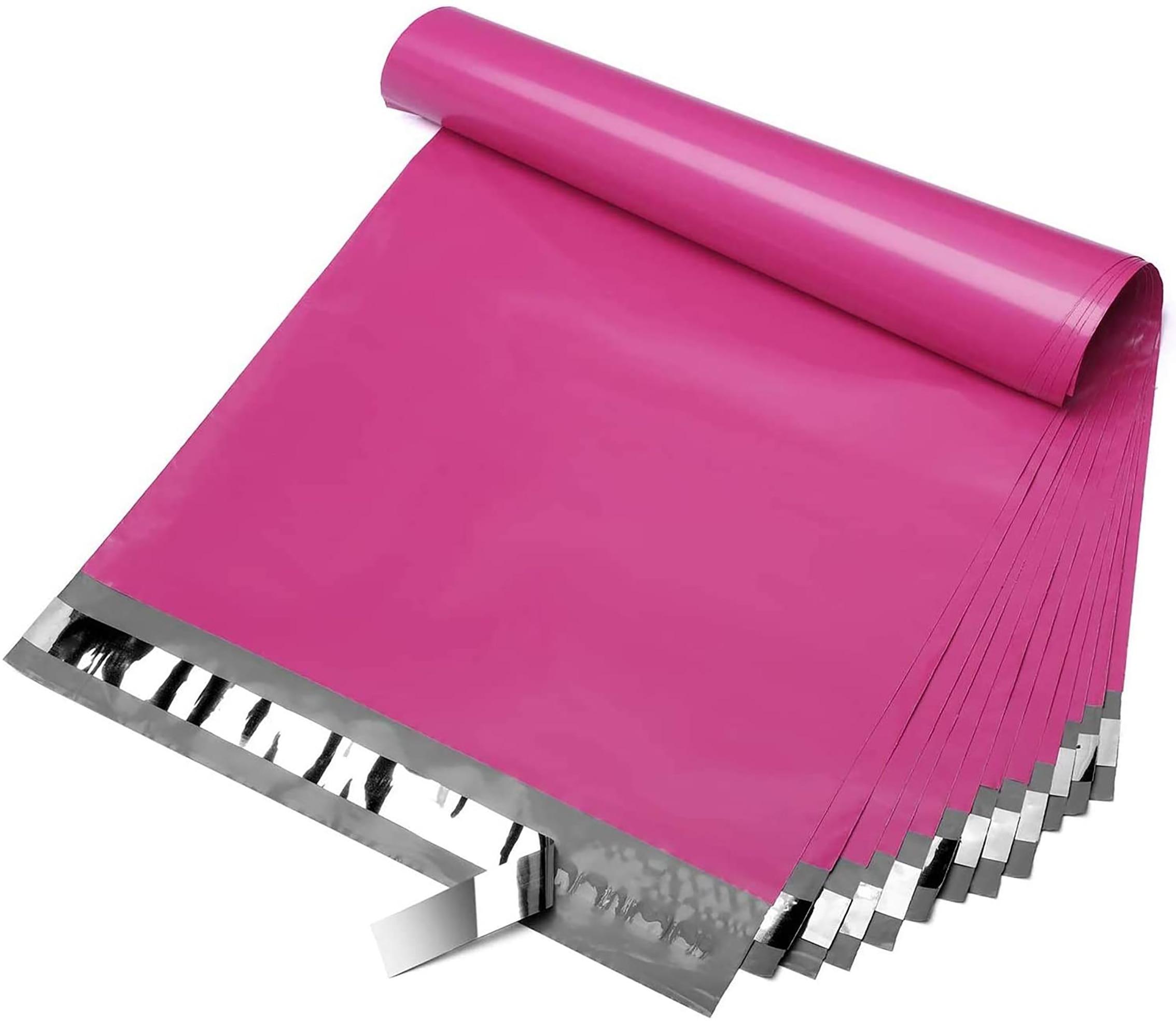 100Pieces/Bag Plastic Mailer Envelope Bags Courier Bag Poly Shipping Mailing Pink Packaging Bag Parcel Storage Plastic Bag
