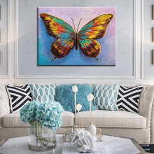 HD Canvas Printing Painting Colorful Butterfly Home Decoration Wall Art For Living Room