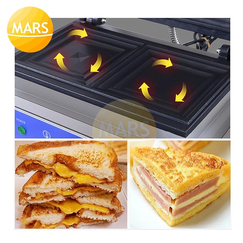 Электрическая вафельница, железная сэндвич машина, железная форма для выпечки, печь, машина для завтрака, тостов, 220 В, 110 В, кухонное оборудование - 5