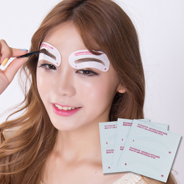 12 Pairs Card Eyebrow Stencil Grooming Shaper Template Makeup Shaping Tools Stickers Eyebrow Template Card DIY Accessories 1