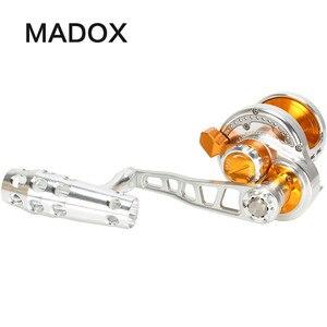 Image 1 - Madox moulinet en alliage de métal, avec alarme, pour pêche en mer, en haute mer, avec frein de 30kg Max, 11BB, Pe4 à 400m, pour Slow Jigging